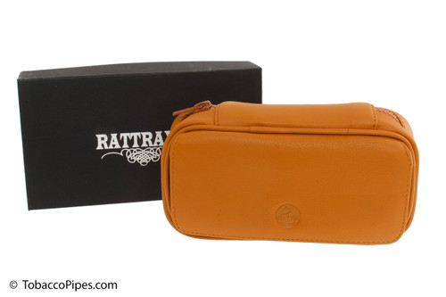 Rattray's 2 Pipe Leather Bag - Natural