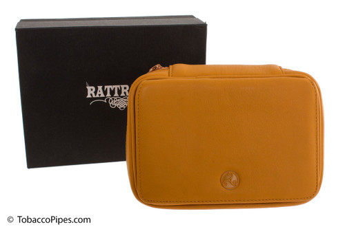 Rattray's 3 Pipe Leather Bag - Natural