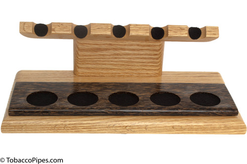 Neal Yarm Oak and Black Palm 5-Pipe Stand