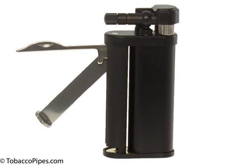 Kiribi Tomo Black Matte Pipe Lighter Open