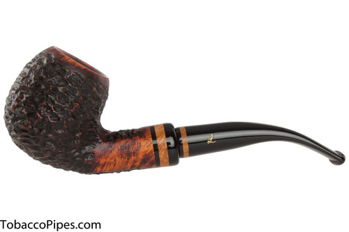 Lorenzetti Nero 23 Tobacco Pipe - Bent Apple Rustic