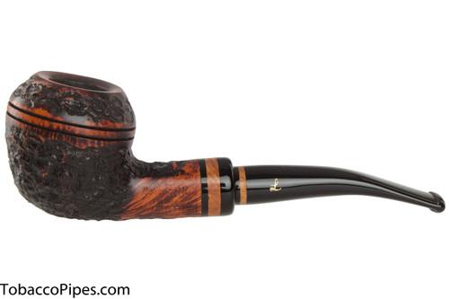 Lorenzetti Nero 37 Tobacco Pipe - Rhodesian Rustic