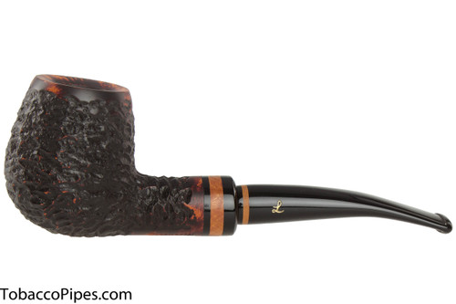 Lorenzetti Nero 49 Tobacco Pipe - Bent Billiard Rustic
