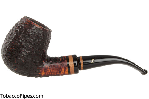 Lorenzetti Nero 24 Tobacco Pipe - Bent Billiard Rustic