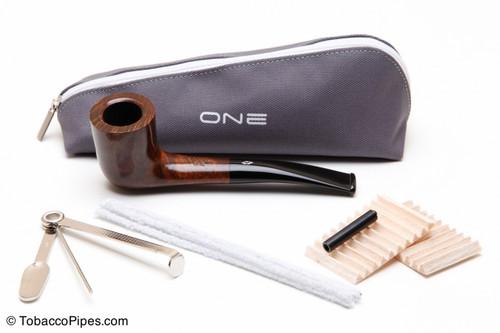 Savinelli One Liscia 404 Tobacco Pipe Kit