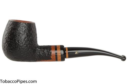 Lorenzetti Titus 49 Tobacco Pipe - Bent Billiard Sandblast