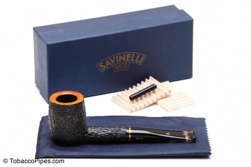 Savinelli Oscar Tiger Rustic Briar Pipe KS 111 Tobacco Pipe Kit