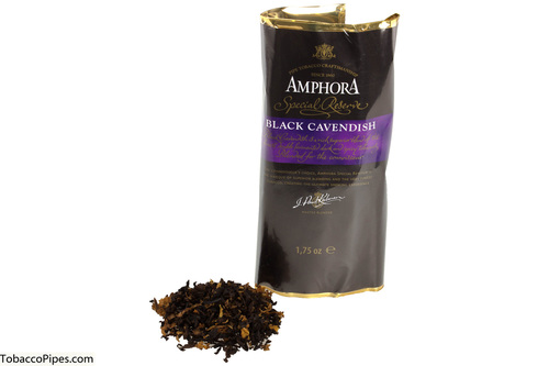 Amphora Black Cavendish Pipe Tobacco Pouch - 1.75 oz