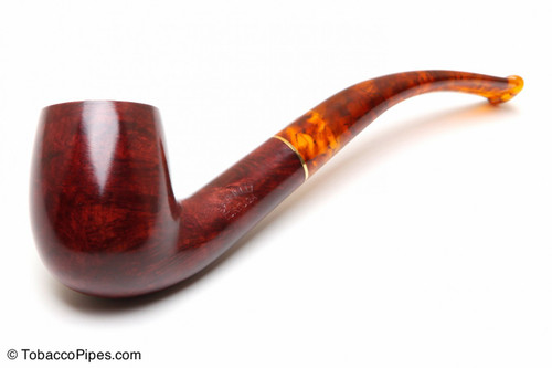 Savinelli Tortuga Smooth KS Briar 606 Tobacco Pipe Left Side