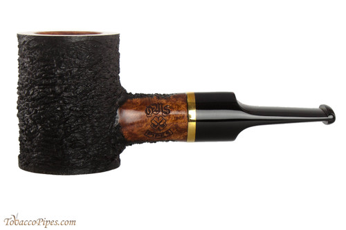 OMS Pipes Poker Tobacco Pipe - Brass Band