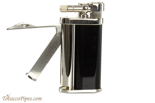 Pearl Eddie Black & Silver Pipe Lighter with Tools