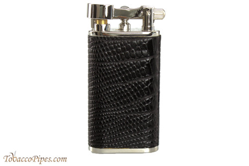 Pearl Stanley Black Small Textured Leather Pipe Lighter
