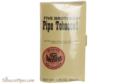 Five Brothers Pipe Tobacco Pouch 1 25 Oz Front