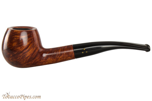 Brigham Mountaineer 329 Tobacco Pipe - Bent Apple Smooth