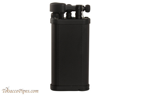 IM Corona Old Boy Black Engine Turned Pipe Lighter