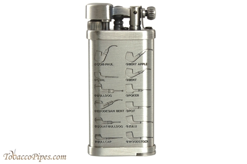 IM Corona Old Boy Silver with Pipe Shapes Pipe Lighter