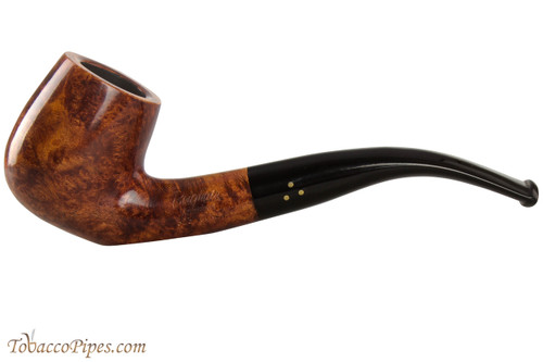 Brigham Mountaineer 323 Tobacco Pipe - Bent Billiard Smooth