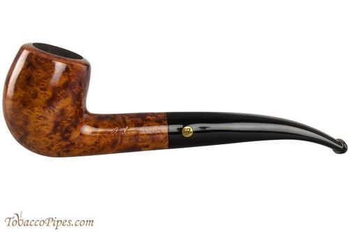 Brigham Klondike 65 Tobacco Pipe - Bent Billiard Smooth