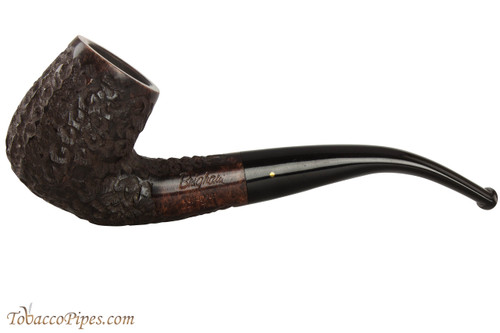 Brigham Voyageur 123 Tobacco Pipe - Bent Billiard Rustic