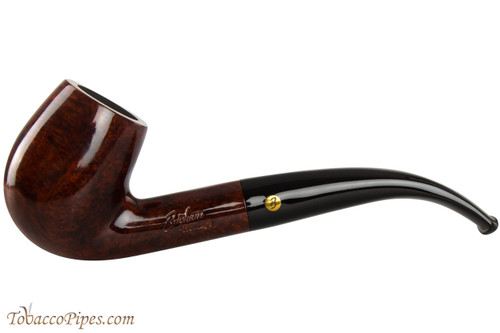 Brigham Heritage 23 Tobacco Pipe - Bent Billiard Smooth