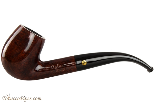 Brigham Heritage 23 Tobacco Pipe - Bent Billiard Smooth