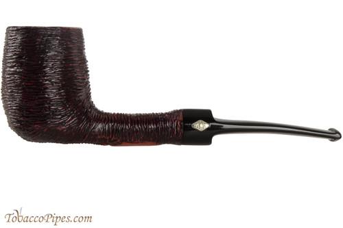 Brebbia Lido Black 100 Tobacco Pipe - Billiard Rustic