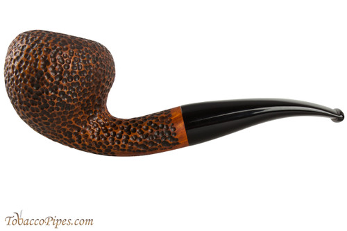 Vauen Curve 434 Brown Tobacco Pipe - Bent Acorn Sandblast