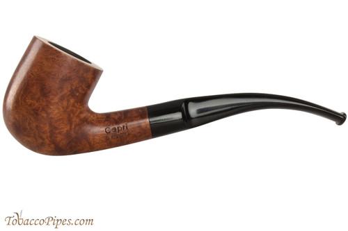 Capri Gozzo 23 Tobacco Pipe - Bent Billiard Smooth