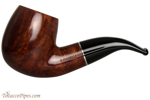 Savinelli La Corta 616 C Smooth Tobacco Pipe - Bent Billiard