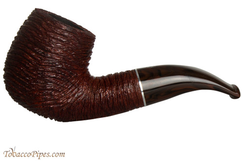Savinelli Mega 616 Brownblast Tobacco Pipe - Bent Billiard