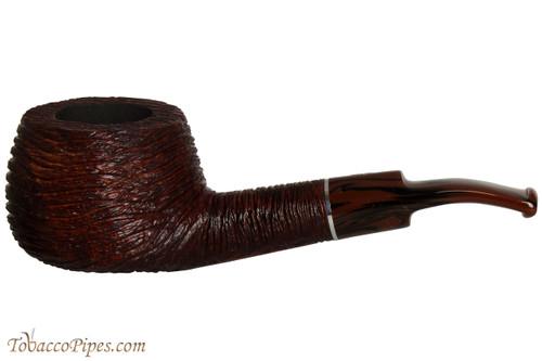 Savinelli Mega 315 Brownblast Tobacco Pipe - Bent Pot