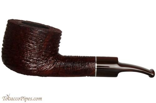 Savinelli Mega 121 Brownblast Tobacco Pipe - Bent Pot