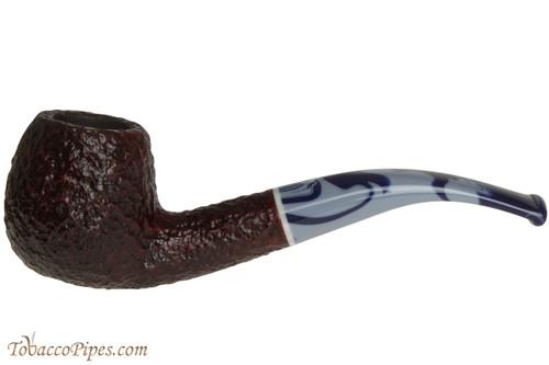 Savinelli Oceano 626 Rustic Tobacco Pipe - Bent Apple