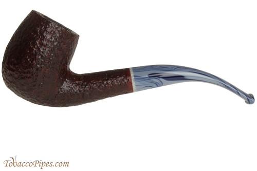Savinelli Oceano 606 KS Rustic Tobacco Pipe - Bent Billiard