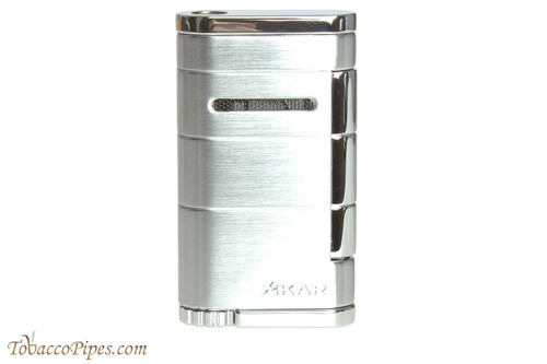 Xikar Allume Single Flame Cigar Lighter - Silver