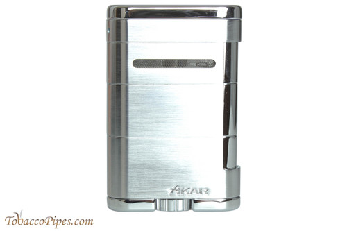 Xikar Allume Triple Tabletop Cigar Lighter - Silver
