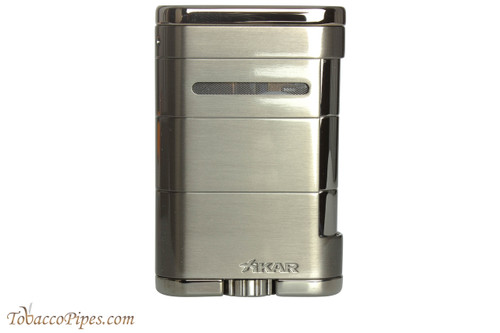 Xikar Allume Triple Tabletop Cigar Lighter - Grey