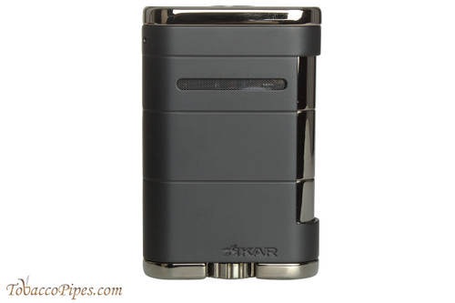 Xikar Allume Triple Tabletop Cigar Lighter - Black