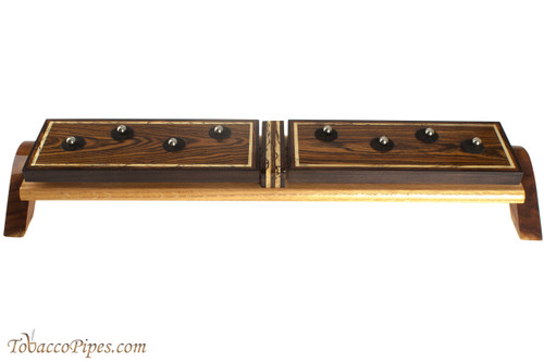 Neal Yarm Bacote / Oak 8 Pipe Stand