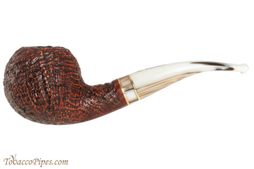 Mastro De Paja Cinque Terre 400 Tobacco Pipe - Bent Apple