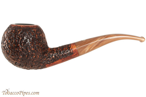 Mastro De Paja Pompei 400 Tobacco Pipe - Rustic Bent Apple