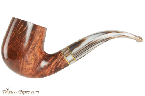 Mastro De Paja Cinque Terre 200 Tobacco Pipe - Smooth Bent Billiard