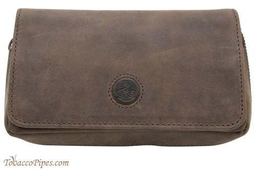 Rattray's Leather 2 Pipe Combo Pouch - Brown