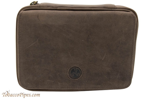 Rattray's 3 Pipe Leather Bag - Brown