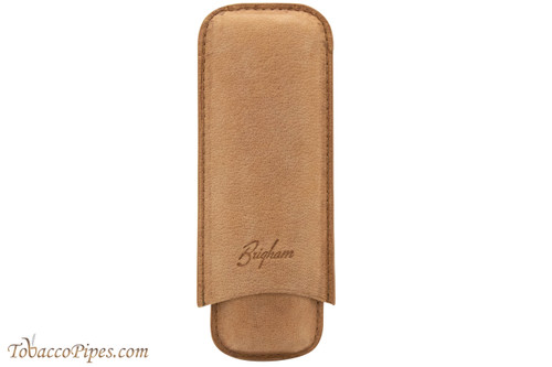 Brigham 2F Corona Cigar Case - Brown