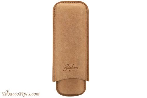 Brigham 2F Corona Cigar Case - Brown