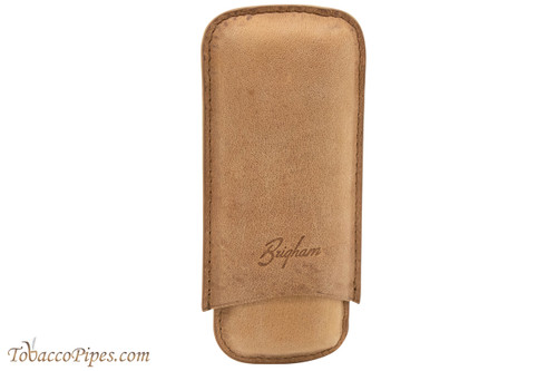 Brigham 2F Robusto Cigar Case - Brown