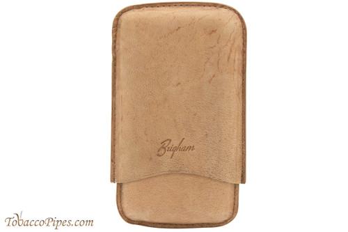 Brigham 3F Robusto Cigar Case - Brown