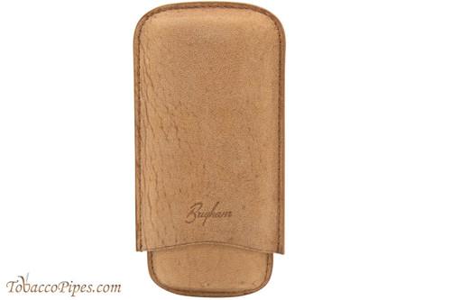 Brigham 3F Corona Cigar Case - Brown