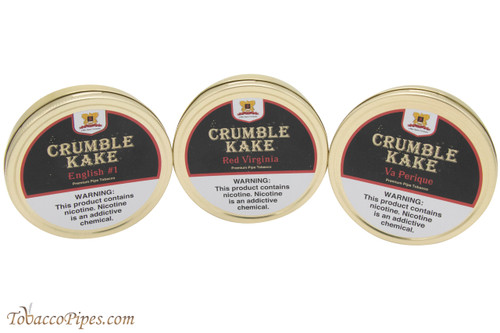 Sutliff Crumble Kake Pipe Tobacco Three Tin Set